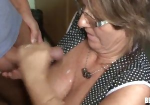 Glasses-wearing beauty drilled deep and hard