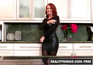 Redheaded mommy gets fucked on all fours HARD