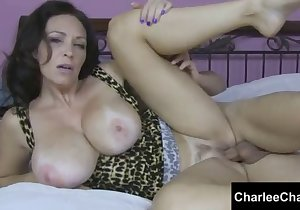 Sideways cam sex session with Charlee Chase