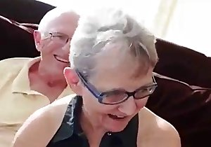 Granny cucks her hubby with a young cock