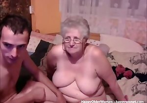 Senile-looking BBW grandma getting fucked